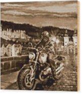 The Knight of Heidelberg-Sepia Wood Print