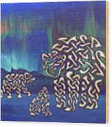 The Knotty Polar Bears Wood Print