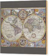 The Known World Wood Print