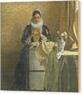 The Lace Maker  Wood Print