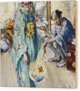 The Lady And Sada San Wood Print