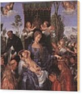 The Lady Of The Festival Du Rosaire Fragment Wood Print