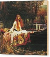 The Lady Of The Shalot Wood Print by Pg Reproductions