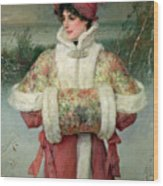 The Lady Of The Snows Wood Print