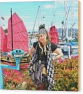 The Lady Pirate Wood Print