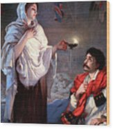 The Lady With The Lamp, Florence Wood Print by Science Source