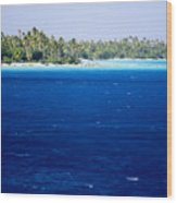 The Lagoon At Rangiroa Atoll Wood Print by Tim Laman