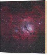 The Lagoon Nebula Wood Print