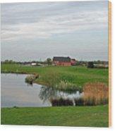 The Lake At Barton Marina Wood Print