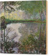 The Lake At Montgeron Wood Print