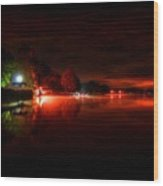 The Lake At Nightfall Wood Print