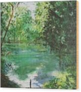 The Lake At Stansted Unfinished Wood Print