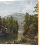 The Lake George Wood Print by David Johnson