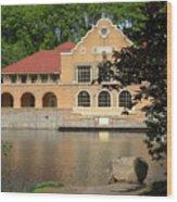 The Lake House Wood Print
