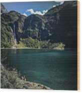 The Lake On A Mountain Wood Print