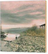 The Lake Walker Wood Print