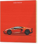 The Lamborghini Aventador Wood Print