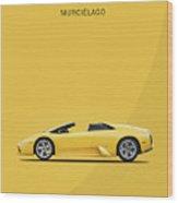 The Lamborghini Murcielago Wood Print