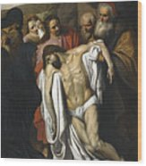 The Lamentation Wood Print