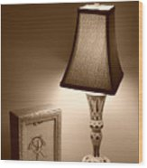 The Lamp Wood Print