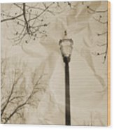 The Lampost Wood Print