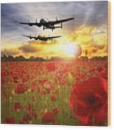 The Lancasters Wood Print