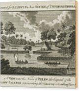 The Landing Place At Palau Wood Print