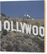The Landmark Hollywood Sign Wood Print