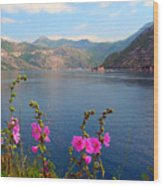 The Landscape Of The Bay Of Kotor In Montenegro. Wood Print