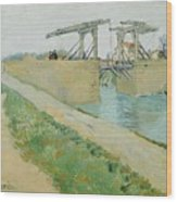 The Langlois Bridge Wood Print