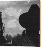 The Lantern On The Trail Wood Print