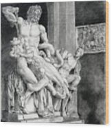 The Laocoon Group Wood Print