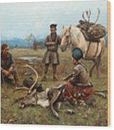 The Laplander Camp At Gleen Wood Print