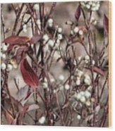 The Last Berries Wood Print