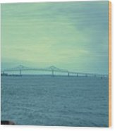 The Last Bridge Before The Ocean   Wood Print