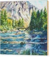 The Last Bridge To Alpine Wood Print
