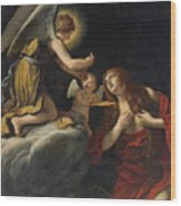The Last Communion Of The Magdalene Wood Print