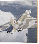 The Last Flight Of The Vulcan Wood Print
