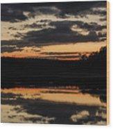 The Last Glow Wood Print
