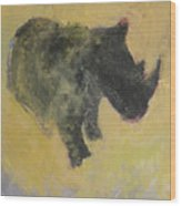 The Last Rhino Wood Print