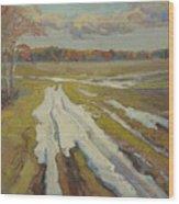 The Last Snow Wood Print