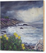 The Last Storm Wood Print