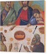 The Last Supper Fragment 1311 Wood Print