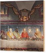 The Last Supper. Fresco In Church Santa Maria Del Carmine, Florence  Wood Print