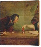 The Last Throw , Charles Robert Leslie Wood Print