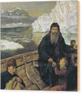 The Last Voyage Of Henry Hudson Wood Print