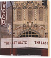 The Last Waltz Wood Print