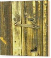 The Latch Wood Print