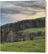 The Late Bloomer Wood Print