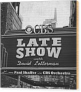 The Late Show Wood Print